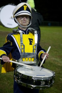 Sam Berns Playing the Snare Drum in Marching Band